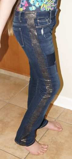 Tuxedo Striped Jeans *OR* How To Make Your Jeans Bigger /cathgrace