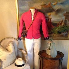"""Lilly Pulitzer Authentic Quilted Jacket Like New, Lilly Pulitzer """"Gold Palm Signature Edition"""" Quilted Pink Jacket, Gold Embroiderd Palm, Signature Zipper, Size Medium Lilly Pulitzer Jackets & Coats"""