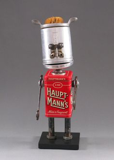 Found Object ROBOT SCULPTURE - Snackdown via Etsy