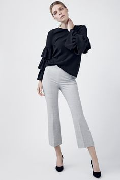 Do it with trousers. If you want to highlight your ankles try cropped trousers with a bell cut leg. We just love  these trousers from FILIPPA K. #stockmann #inspiroidu