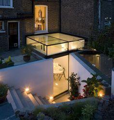 glass lantern roof extension and patio door   Paul Archer Design