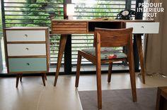 Typisches Design der 50er Jahre aus 100 % massives Akazienholz