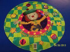 "RARE JoJo's Circus Clown Disney Kids Birthday Party Decoration 18"" Mylar Balloon #MDIndustries #BirthdayChild"