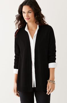 LUXE CASHMERE OPEN CARDIGAN  $249