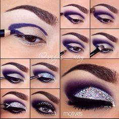 Pretty purples and sparkles | DIY |