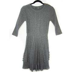 1484da5a303 Mak B Gray Youth Girls Medium Gray Cable Knit Sweater Dress 124  fashion   clothing