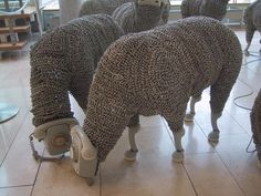 Phone cord sheep, who knew? Very creative.