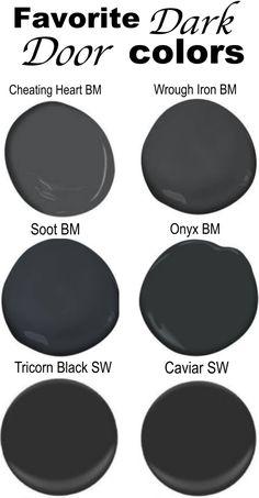 Dark Interior Doors, Interior Door Colors, Dark Doors, Painted Interior Doors, Black Front Doors, Door Paint Colors, Exterior Paint Colors, Paint Colors For Home, Painted Doors