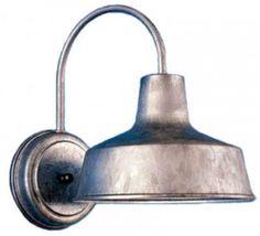 Galvanized steel light fixture from Barn Light Electric.