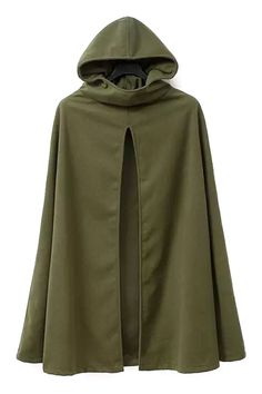Army Green Hooded Trench Coat