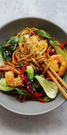 Shrimp Lo Mein – the best and most delicious Shrimp Lo Mein recipe ever! Made with Simply Asia Chinese Style Lo Mein Noodles, it's better than Chinese restaurants | rasamalaysia.com #ad
