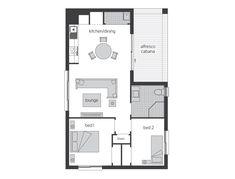 Granny Flat Designs and Studio Suites Small House Design, Modern House Design, Flat Design, Garage Apartment Plans, Garage Apartments, Mcdonald Jones Homes, Studio Apartment Layout, River Cottage, Granny Flat