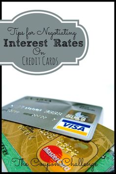 Tips for Negotiating Interest Rates On Credit Cards. This is one of the biggest struggles when working to get rid of debt.