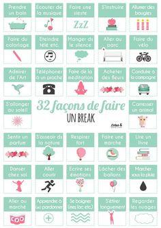 Psychology : 32 façons de faire un break - Pump It, Miracle Morning, Burn Out, Modern Resume Template, Cv Template, Daily Meditation, Word Design, Positive Attitude, Self Development