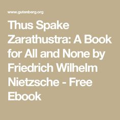 21 best books images on pinterest book review books online and thus spake zarathustra a book for all and none by friedrich wilhelm nietzsche free fandeluxe Image collections