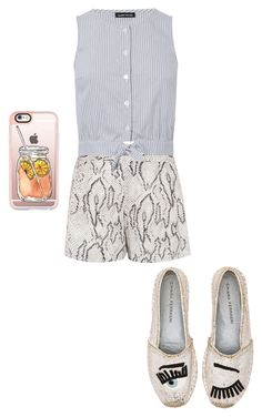 """""""Untitled #192"""" by jaycrew-a ❤ liked on Polyvore featuring Haute Hippie, Warehouse, Chiara Ferragni and Casetify"""