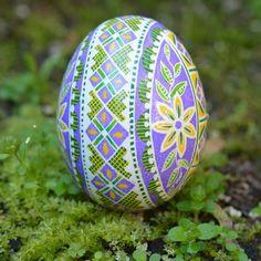 Lilac Pysanka Eggs beautiful color combo I am addicted to it