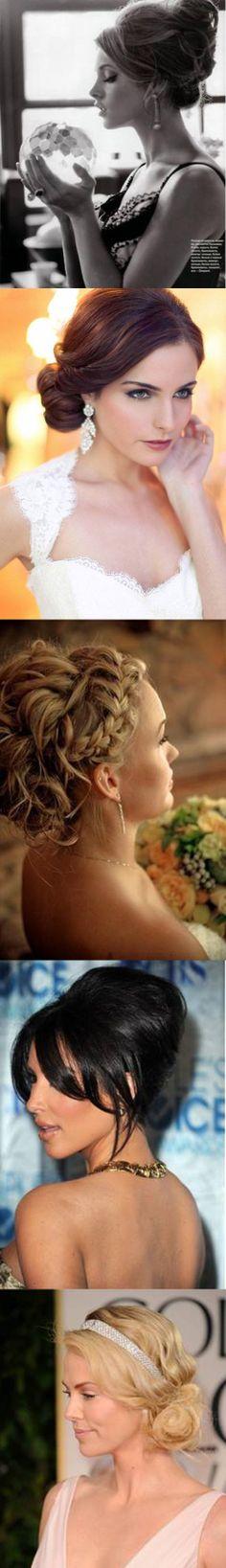 Bridal Updo Hairstyles / volume / braids / brunette / blonde / classic / elegant