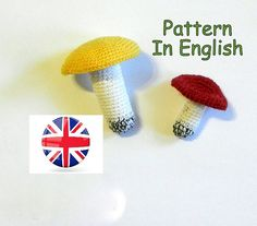 https://www.etsy.com/listing/522241234/crochet-pattern-mushroom-crochet?ref=shop_home_active_11 Crochet Pattern Mushroom  #crochet #mushroom  #russule #amigurumi