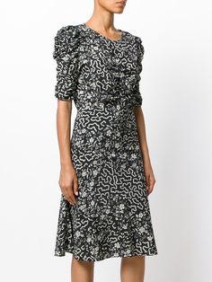 Isabel Marant floral and geometric print ruched dress