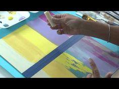 Tecnicas mixtas - Desgastado con pintura - Dimensional - Lidia Gonzalez Varela - YouTube