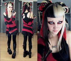 punk dreads goth undercut demonia psychara platform boots synthetic dreads gothgoth