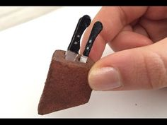 how to make a miniature knife block + knives (can be scaled down further)