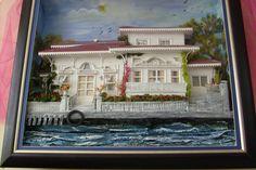 ahşap rölyef kağıt sipariş - Google'da Ara Beach Art, Cottage, Crafts, Painting, Google, 3d, Frames, Dioramas, Manualidades