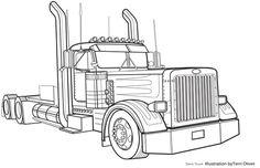 peterbilt semi trucks coloring pages | Peterbilt Truck Coloring Pages | painting | Pinterest ...
