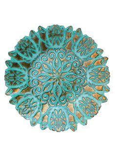 vietri damask aqua bowl