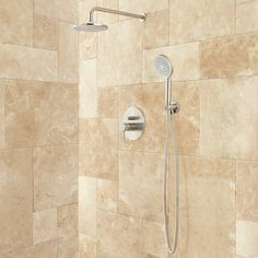 $260, (brushed nickel) Lattimore Shower System with Rainfall Shower Head & Hand Shower