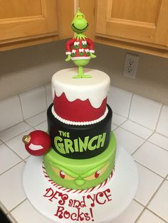 Providing cake making tools and supplies for extra special and beautiful cakes. Grinch Party, Grinch Cake, Grinch Christmas Party, Christmas Love, Christmas Goodies, Christmas Treats, Winter Christmas, Christmas Cakes, The Grinch