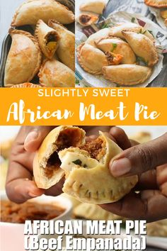 African Meat Pie (Beef Empanada)- slightly sweet , flaky and crusty with a succulent beef filling .Comes together quickly and flies off the table. African Meat Pie Recipe, African Recipes, Easy Meat Pie Recipe, Nigerian Meat Pie, Nigerian Food, Curry Recipes, Beef Recipes, Cooking Recipes, Food Videos