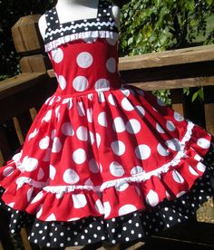 Custom Boutique Minnie Dot Dress Halter Mouse Vacation Cruise Disney Twirl Mickey Princess 2 3 4 5 6 7 8. $59.00, via Etsy.