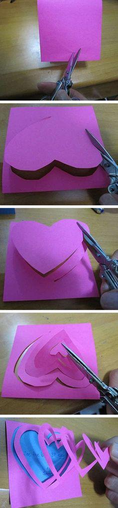,今天我来介绍一款关于心形的剪纸。这种剪纸简单易学希望你早点学会哦。