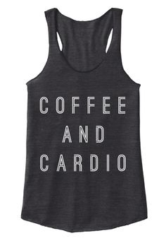 Coffee And Cardio Eco Black Women's Tank Top Front
