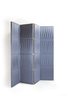 Hide & Seek Folding Screen 4 Panel | Hide & Seek brings together creative freedom and detailed pleated tailoring.  A unique design piece that brings decoration to its full meaning