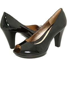 Just treated myself to this pair of Sofft patented black leather pumps at Zappos.