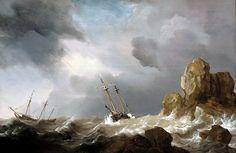 WILLEM van de VELDE el joven barco neerlandés