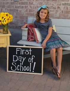 first day of school- set up in classroom to take pictures, could make crafts for parents and a board in the classroom!