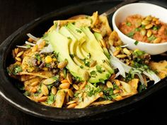 Vegan: Chilaquiles with Pepitas, Charred Corn, and Black Beans from Serious Eats #NOM