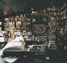 My dream library bedroom Library Bedroom, Library Books, Attic Library, Cozy Library, Bedroom Bookshelf, Bookshelf Wall, Library Ideas, Mini Library, Library Wall