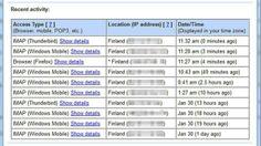 Onko Gmail-tilisi hakkeroitu? Näin tarkistat * Gmailin selainversiosta on helppo tarkistaa, mistä internet-osoitteista postia on luettu.
