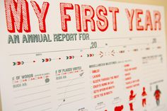 Very cool data visualization of child's first year.
