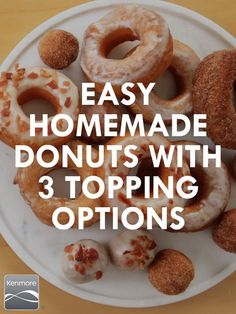 Homemade Donuts and toppings to choose from. Because everyone likes options when it comes to donuts.