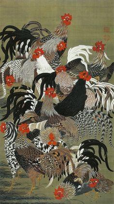 """"""" Itō Jakuchū Roosters"""""""