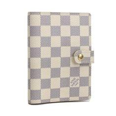 Louis Vuitton Agenda PM Damier Azur Other White Canvas R20706