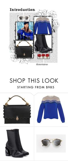 """""""ALL DAY OUTFIT NEW SEASON"""" by rousou ❤ liked on Polyvore featuring Oris, Fendi, Dries Van Noten and The French Bee"""