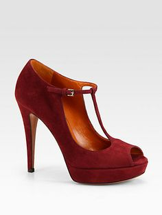Xmas whoes: Gucci - Betty Suede Mary Jane Pumps - Saks.com 672.96 CAD ~ETS