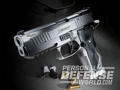 The Sig Sauer X-Five Short is great for beating the clock or pulling personal defense duty! Sig Sg 550, Sig Sauer P226, You Magazine, Personal Defense, Hand Guns, Shotguns, Rifles, Weapons, Arms